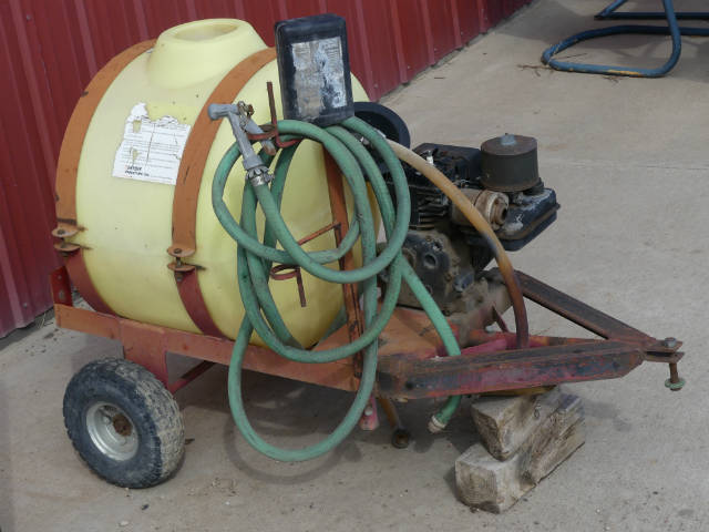 Used -- pull 25 gallon sprayer with engine