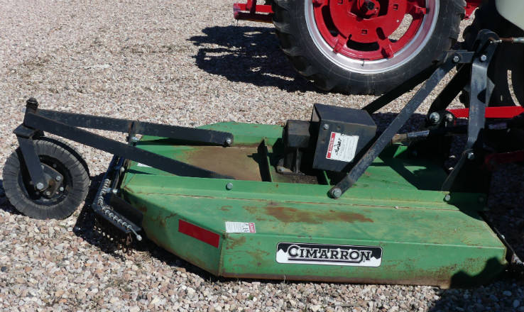 Used Cimarron 5 foot rotary mower with chain guards