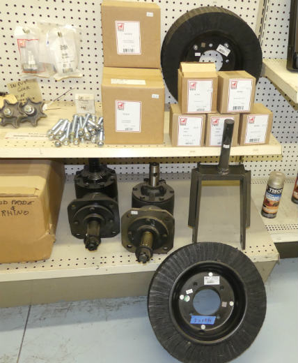 New rotary mower replacement parts - gear box, blades, PTO shafts, tail wheel, hub and bushings