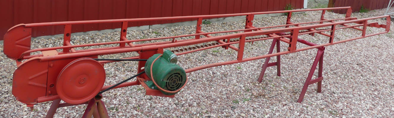 Used -- 14 foot hay elevator with electric motor