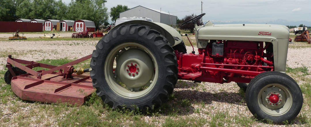 Used Ford 640 tractor - 34HP with 5' rotary mower